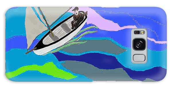 Wave Tossed Boat Galaxy Case