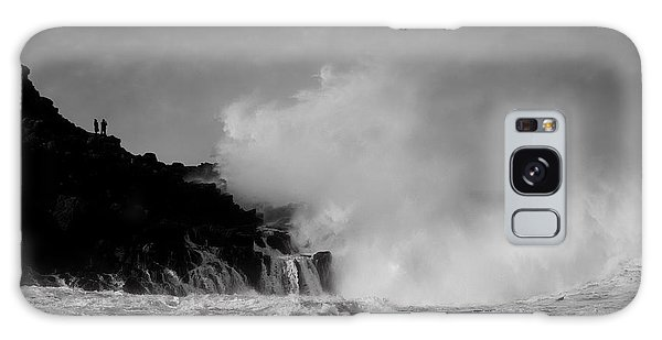 Wave Watching Galaxy Case by Roy McPeak