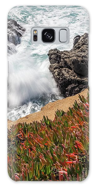 Waves And Rocks At Soberanes Point, California 30296 Galaxy Case