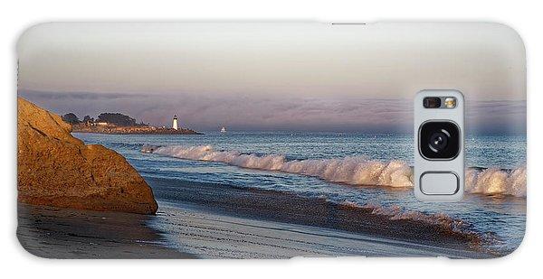 Waves At Santa Cruz Galaxy Case
