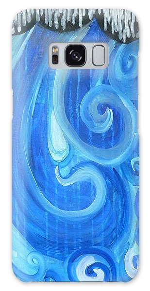 Galaxy Case featuring the painting Waves Graffiti By Janelle Dey by Janelle Dey