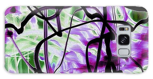Waves Of Purple Galaxy Case