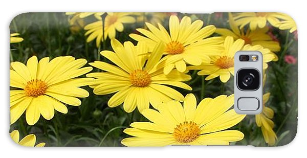 Waves Of Yellow Daisies Galaxy Case