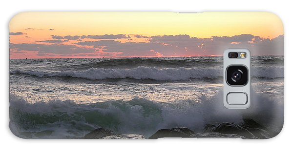 Waves Over The Rocks  5-3-15 Galaxy Case