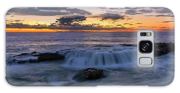 Wave Over The Rocks Galaxy Case by Eddie Yerkish