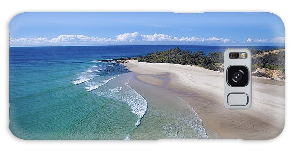 Waves Rolling In To North Point Beach On Moreton Island Galaxy Case