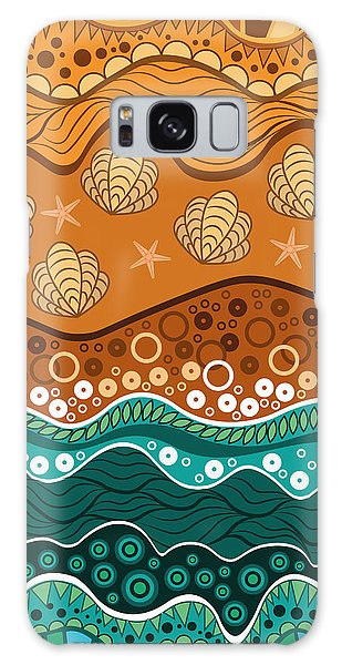 Waves Galaxy Case by Veronica Kusjen