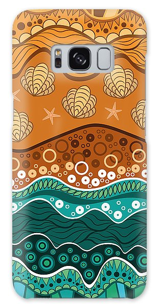 Galaxy Case - Waves by Veronica Kusjen