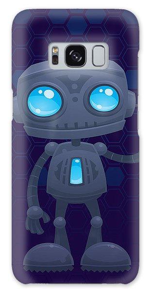 Gray Galaxy Case - Waving Robot by John Schwegel