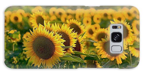 Waving Sunflowers In A Field Galaxy Case by Karen McKenzie McAdoo
