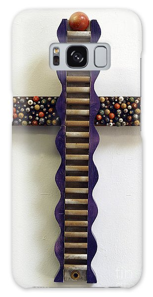 Wavy Cross With Beads Galaxy Case