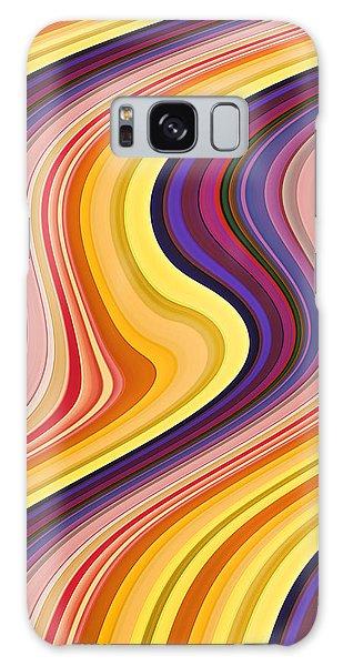 Wavy Stripes 2 Galaxy Case