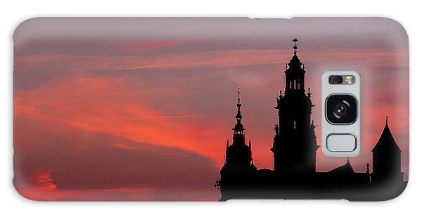 Wawel Castle And Cathedral Silhouette In Krakow Galaxy Case