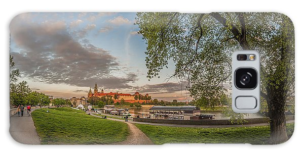 Wawel Royal Castle Seen From Vistula Bank In 16x9 Galaxy Case by Julis Simo
