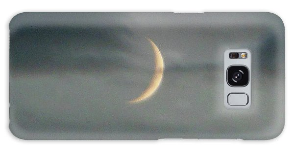 Waxing Crescent Moon Galaxy Case