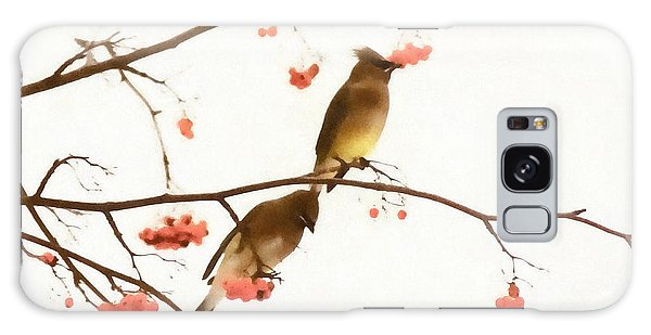 Waxwing Wonders Galaxy Case