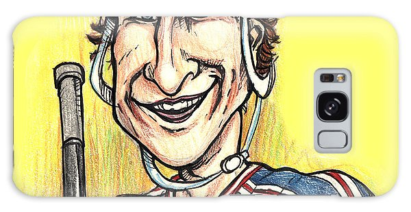 Wayne Gretsky Caricature Galaxy Case by John Ashton Golden