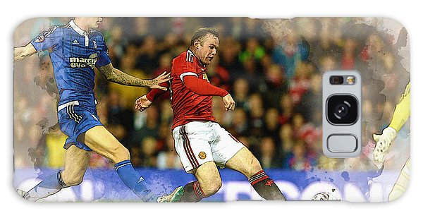 Wayne Rooney Of Manchester United Scores Galaxy Case