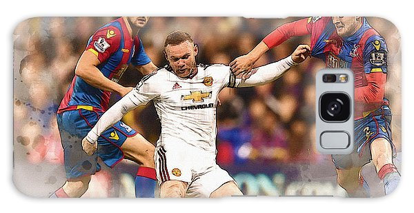 Wayne Rooney Shoots At Goal Galaxy Case