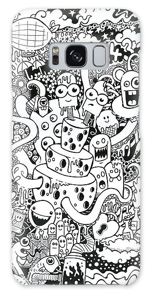 Pen And Ink Drawing Galaxy Case - We All Love Cheese by Samuel Whitton