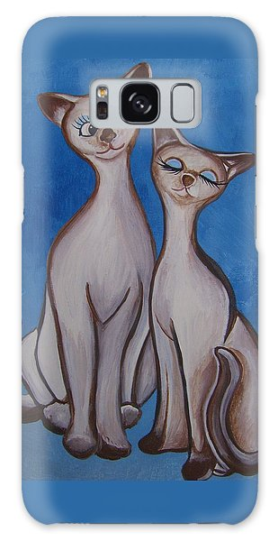 We Are Siamese Galaxy Case by Leslie Manley