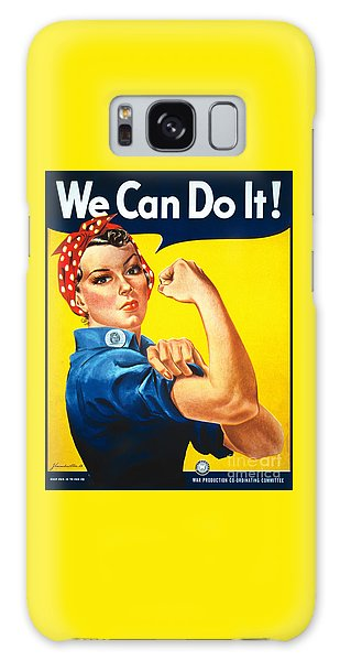 We Can Do It Rosie The Riveter Poster Galaxy Case