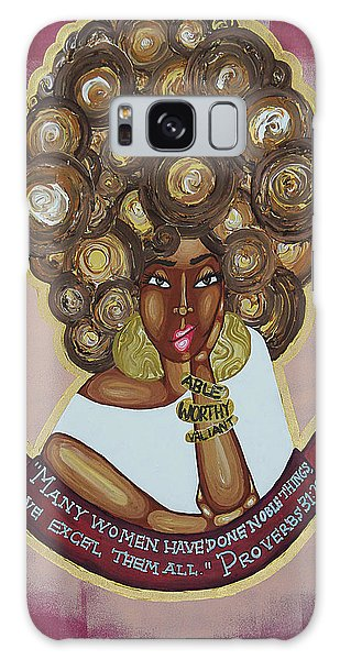 Galaxy Case featuring the painting We Excel Them All by Aliya Michelle