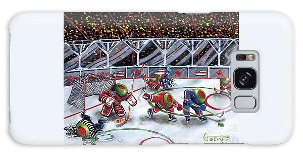 Hockey Galaxy Case - We Olive Hockey by Michael Godard