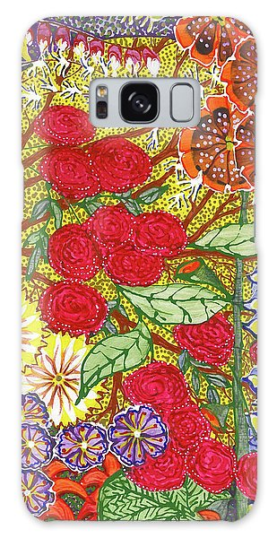 Galaxy Case featuring the painting We Will Have Many Blooms #2 by Kym Nicolas