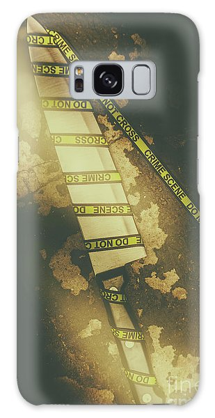 Wrap Galaxy Case - Weapon Wrapped In Yellow Crime Scene Ribbon by Jorgo Photography - Wall Art Gallery