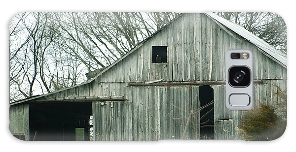 Weathered Barn In Winter Galaxy Case