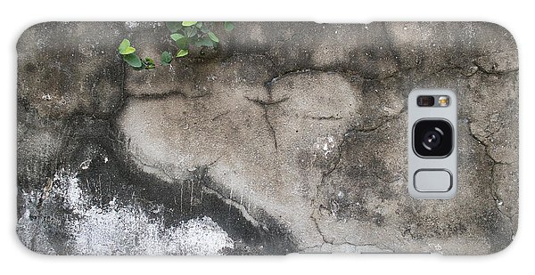 Weathered Broken Concrete Wall With Vines Galaxy Case