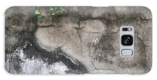 Weathered Broken Concrete Wall With Vines Galaxy Case by Jason Rosette