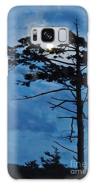 Weathered Moon Tree Galaxy Case by Michele Penner