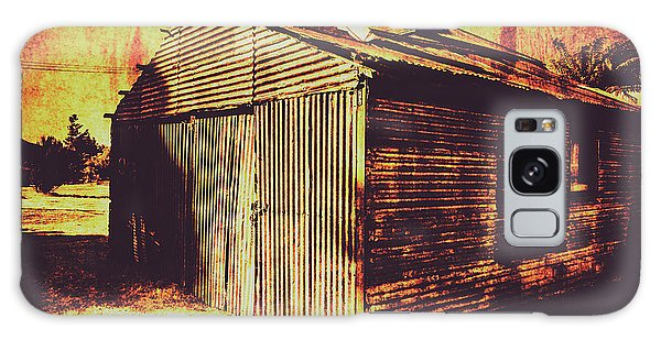 Shed Galaxy Case - Weathered Vintage Rural Shed by Jorgo Photography - Wall Art Gallery