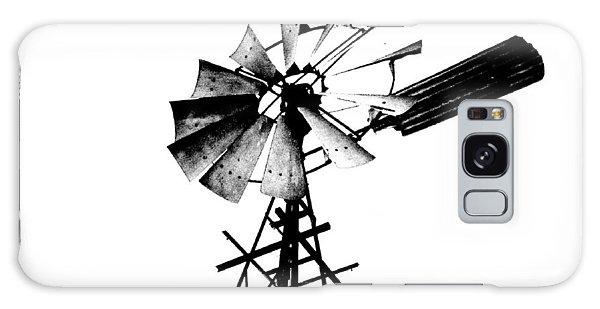 Weathered Windmill - B-w Galaxy Case