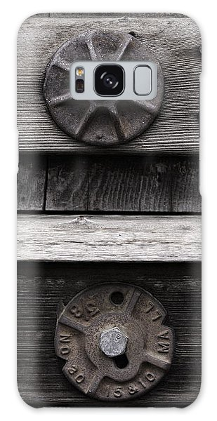 Weathered Wood And Metal Five Galaxy Case by Kandy Hurley