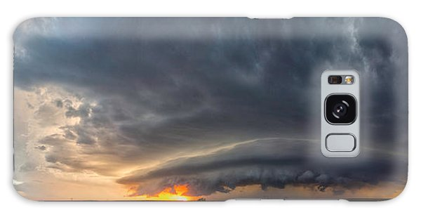 Weatherford Oklahoma Sunset Supercell Galaxy Case