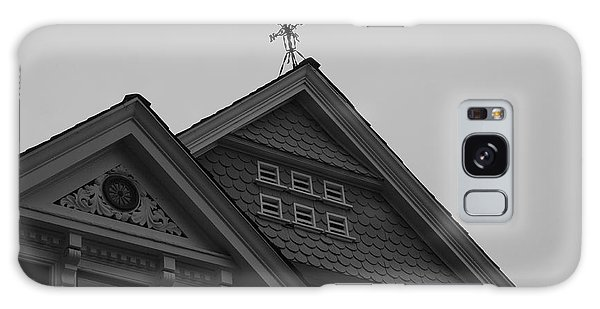 Galaxy Case - Weathervane In Black And White by Suzanne Gaff