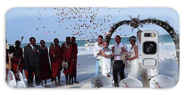 Wedding Party In Rose Petals Galaxy Case