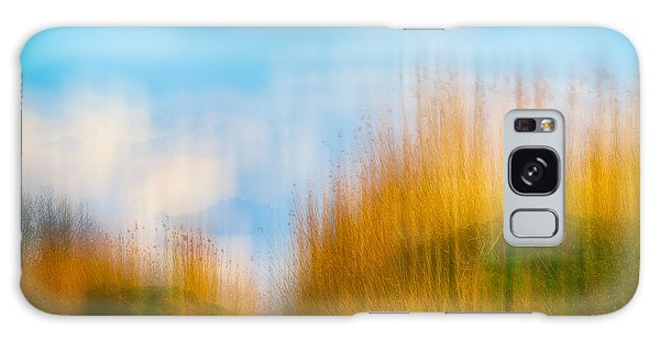 Weeds Under A Soft Blue Sky Galaxy Case