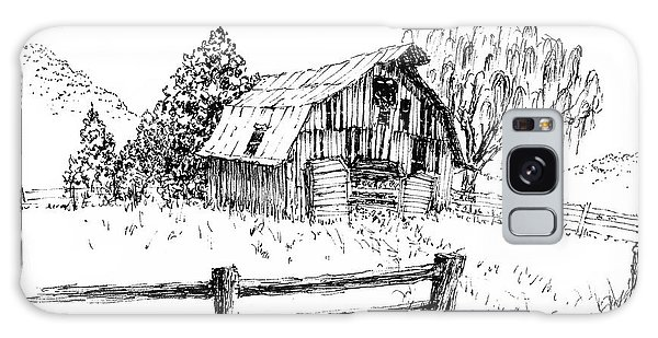 Weeping Willow And Barn One Galaxy Case