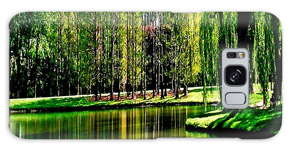 Weeping Willow Tree Reflective Moments Galaxy Case