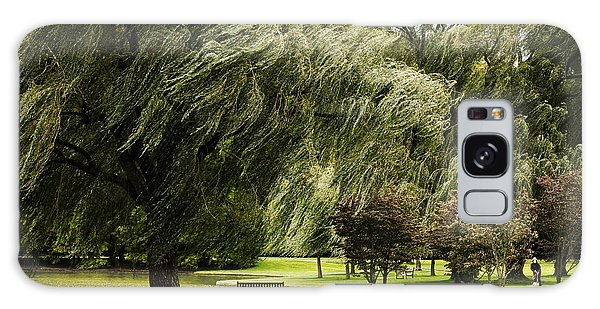 Weeping Willow Trees On Windy Day Galaxy Case