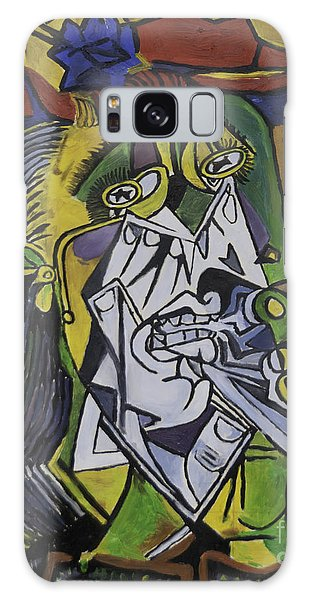 Picasso's Weeping Woman Galaxy Case