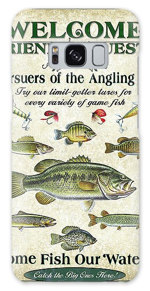 Trout Galaxy Case - Welcome Friends Sign by JQ Licensing