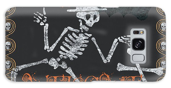 Skull Galaxy Case - Welcome Ghoulish Guests by Debbie DeWitt
