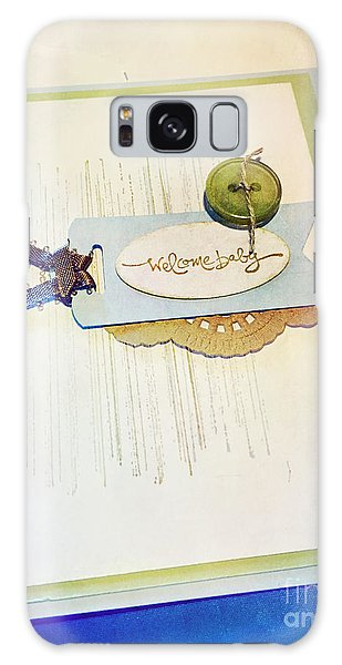 Welcome New Baby Handmade Stationary Galaxy Case
