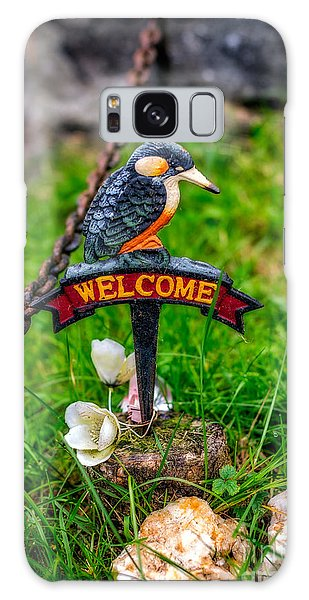 Rusty Chain Galaxy Case - Welcome Sign by Adrian Evans