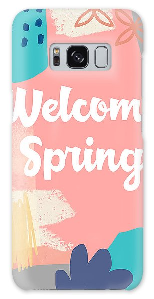 Peach Galaxy Case - Welcome Spring- Colorful Art By Linda Woods by Linda Woods